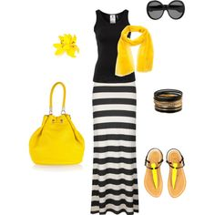 Sunny daize, created by carolineclarkscott on Polyvore