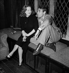 Bette Davis and Gary Merrill on the set of 'All About Eve', 1950