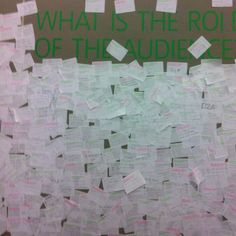 What is the role of the audience? - Tate Tanks