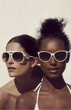 So hot. Michael Kors White Sunglasses | Nordstrom