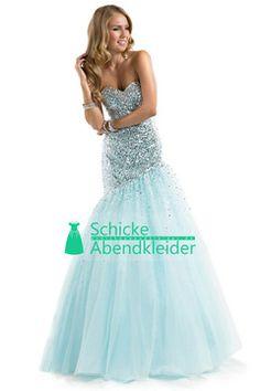 2014 Abendkleid mit Pailletten Korsett Tulle Schatz-Nixe Fußboden-Länge €165.58 SAPGYM3HKP - schickeabendkleider.de for mobile