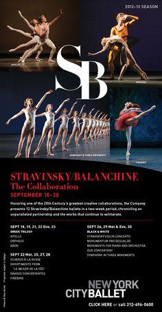 Season Begins Sept 18 With Two Weeks of Stravinsky/Balanchine