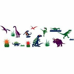 Djeco / Dinosaurs Removable Wall Clings by Djeco. $15.24. Transform your child's room into a prehistoric wonderland with this sticker set . Peel and stick to any wall or window and remove easily if needed . Wall sticker set includes 20 colorful, removable wall stickers . Made in France. The Djeco Dinosaurst wall sticker set includes 20 bright, clean-lined dinosaur stickers to decorate your childs room or special place. Enjoy bright colors, modern lines and vibrant color combinat...