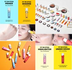 x VT - Fit on Stick - These color correction sticks are just the trick you need to flawless makeup: Highlighter, Under Cover, Primer, Shading. Bts Doll, Bts Makeup, Korean Makeup Tips, Bts Clothing, Bts Merch, Photo Makeup, Foto Bts, Flawless Makeup, Color Correction