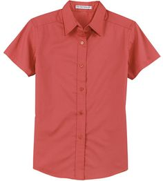 Design Ladies Easy Care Wrinkle Resistant Short Sleeve Shirt Please see colors available on the color chart