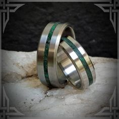 This ring is handmade from Titanium with a Jade Stone Inlay. Available in any stone of your choice from the list below.  FREE Ring Box made of Maple Wood. For Presenting your Ring! Almost FREE Shipping on all orders! $ 5.00 for North America, $ 20.00 for International. The genuine