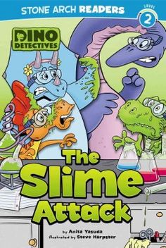 ER YAS. Ty the Tynnosaurus Rex loves to experiment, but when his friends arrive there is slime everywhere and Ty has disappeared--so the Dino Detectives swing into action.