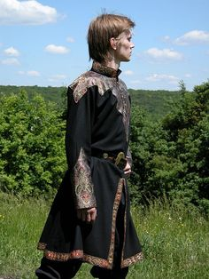 Elven Prince Brocade Tunic - Medieval and Renaissance Clothing, Costume - Medieval Costume, Medieval Dress, Elven Costume, Renaissance Clothing, Renaissance Fair, Medieval Fair, Larp, Landsknecht, Fantasy Costumes