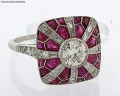 Magnificent-Antique-Art-Deco-Diamonds-Rubies-Platinum-Ring