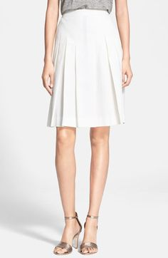A.P.C. Pleat Cotton Skirt available at #Nordstrom