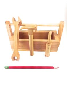 Handmade Wooden Tool Set and Tools  Completely Safe and Organic. by SimpleGreat, $35.00