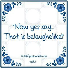 Dutch expressions in English: Belachelijk