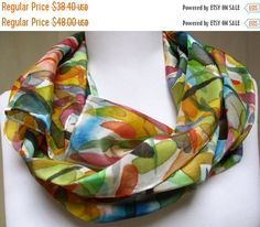 Silk scarf wrap Hand Painted Designer Accessory. by Silkworth