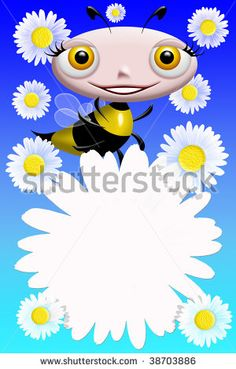 Bee and Flower Background