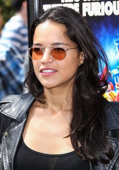 Michelle Rodriguez Long Wavy Cut - Michelle Rodriguez stuck to simple styling with this loose wavy 'do at the Turbo-Charged Party in LA.