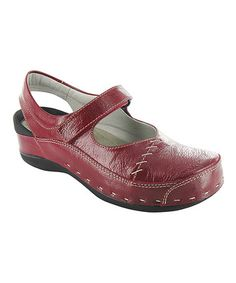 0754a8ead4da Love this Red Strap-Cloggy Leather Mary Jane by Wolky on  zulily!