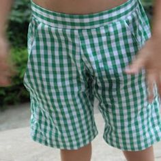 Complete with pockets and a fun, classy fit, these Big Boy Bermuda Shorts are a great way to sew kids' clothes.