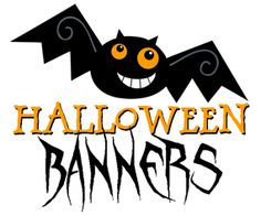 Please scroll down and click on the bat-shaped buttons to see and download the free printable Halloween banners .       These free Halloween...