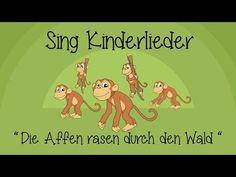 Die Affen rasen durch den Wald - Kinderlieder zum Mitsingen | Sing Kinderlieder - YouTube