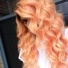 Pastel Orange Hair. Wow!!! #pastelhair #orangehair #hairinspiration