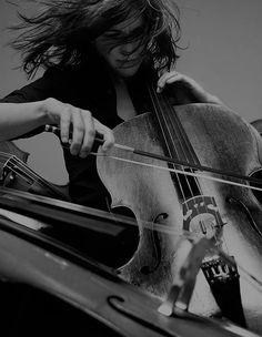 ♫♪ Music ♪♫ musician black & white cello woman