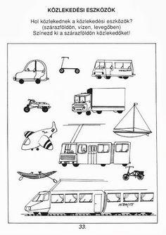 """Képtalálat a következőre: """"környezetismeret 1. osztály közlekedési járművek"""""""