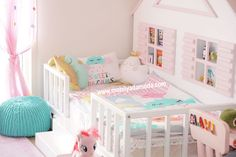 Mavi'nin Yatağı, Arkası Çatılı Yer Yatağı Baby Bedroom, Nursery Room, Girls Bedroom, Toddler Rooms, Toddler Bed, Little Girl Rooms, Cool Rooms, Kid Beds, Kids Room