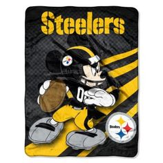 Amazon.com: NFL Pittsburgh Steelers Mickey Mouse Ultra Plush Micro Super Soft Raschel Throw Blanket: Sports & Outdoors