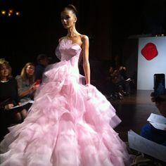 Austin Scarlett Gown Bridal Fashion Week 2012  Photo by destweddingmag