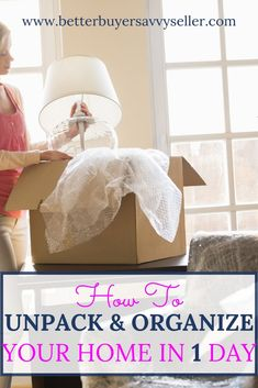 Get settled into your new home quickly! This tells you exactly how to unpack quickly so you can start enjoying your new home TODAY Unpacking After Moving, Unpacking Tips, Next At Home, First Home, Moving House Tips, Packing To Move, Home Selling Tips, Home Management, Organizing Your Home