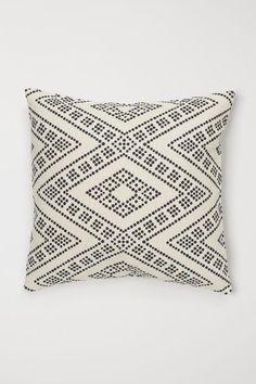 Pudebetræk i bomuld - Naturhvid/Sortprikket - Home All Cushion Covers Online, H&m Home, H&m Gifts, Black Spot, Decorating Blogs, Fall Decor, Decorative Pillows, Decoration, Pillow Covers