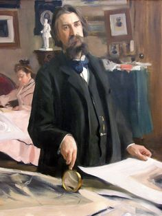 Portrait by Abram Arkhipov (Russian 1862-1930)....who is this?