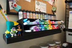Love this storage idea for copic markers.