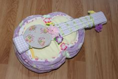 custom made diaper cakes, towel cakes, party favours located in ajax (durham region) Guitar Diaper Cakes, Towel Cakes, Party Favors, Favours, Babys, Children, Parents, Gifts, Diy