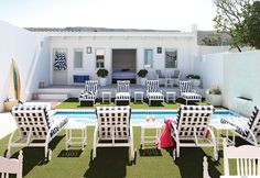 Enjoy laid-back afternoons with a cocktail in hand at the heated pool at One Marine Drive Boutique Hotel in the heart of Hermanus.