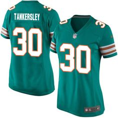 cec413246e7 Women's Nike Miami Dolphins #30 Cordrea Tankersley Limited Aqua Green  Alternate NFL Jersey