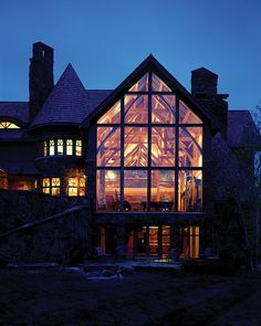 Four Suns Timber Frame Home - Rear Windows