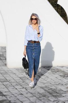 Modest Outfits, Modest Fashion, Skirt Fashion, Chic Outfits, Fashion Outfits, Apostolic Fashion, Modest Clothing, Apostolic Style, Clothing Stores