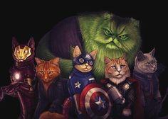 Cat Avengers! Life has purpose now.