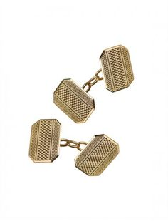 Gold Chain Style Cufflinks - Available at Onyx Goldsmiths