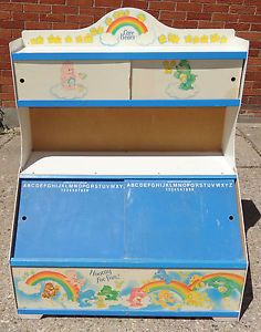 80s toy chest | ... Vintage-VHTF-Toy-Chest-Box-Sliding-Doors-RARE-Chalkboards-Display-80s