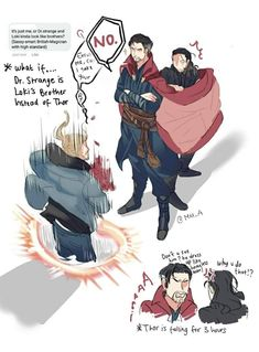 Thor: Ragnarok || Thor,Loki,Dr.Strange Oh moi ghosss sooo beautiful ❤❤ they can make a great bros  BOTP BroTp❤❤❤❤