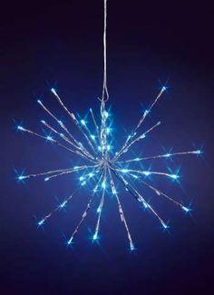 LED Leuchtstern für außen 35x45 cm (H/Ø) cm silber/kaltweiße LEDs