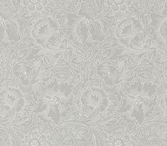 Pure Poppy by Morris - Dove / Chalk - Wallpaper : Wallpaper Direct Grey Wallpaper, Print Wallpaper, Fabric Wallpaper, Wallpaper Roll, Wallpaper Designs, Kitchen Wallpaper, Wallpaper Ideas, William Morris Tapet, Wallpaper Companies