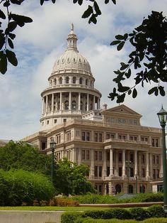 "Texas Capitol in Austin, Texas. ""Texas Forever."""