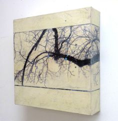 Karen Jacobs' Arbres Series 3 love the wrapping of the image onto the side Wax Art, Encaustic Painting, Monochrom, Chalk Pastels, Linocut Prints, Art Techniques, Abstract Art, Abstract Paintings, Branches