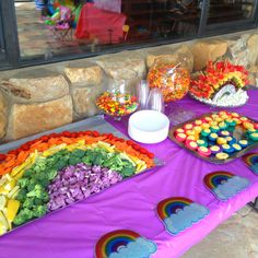 {Rainbow Veggies and Fruit Rainbow Arch}