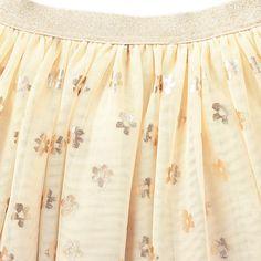 Stella McCartney Kids Honey Iridescent Floral Mesh Skirt-product