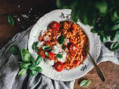 TOMAATTIRISOTTO Baked Feta Recipe, Pasta Al Dente, Feta Pasta, English Food, Cooking Instructions, Original Recipe, Weeknight Meals, Cherry Tomatoes, Pasta Recipes