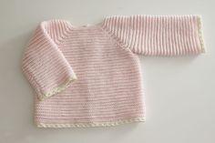 Ropa de lana: Jersey de punto paso a paso (patrones gratis) | | Oh, Mother Mine DIY!! Knitting For Kids, Baby Knitting, Crochet Baby, Baby Cardigan Knitting Pattern, Knitting Patterns, Patron Crochet, Baby Barn, Couture, Pullover